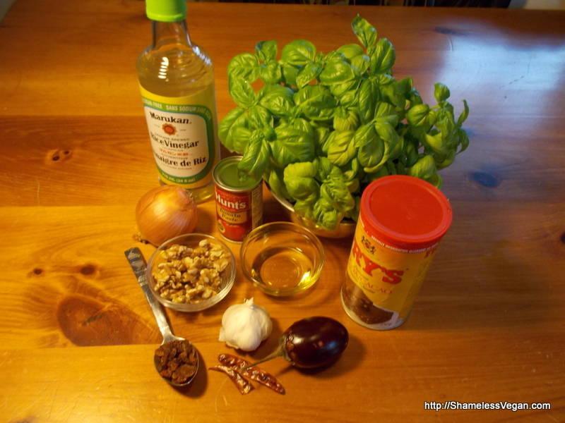 Eggplant Caponata Ingredients