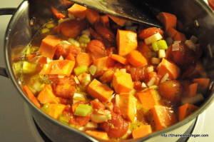 African Sweet Potato Stew on Stove